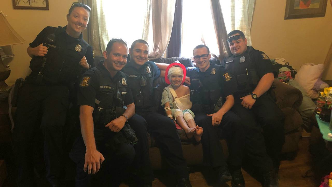 Wyandotte police visit Ecorse motorcycle crash victim