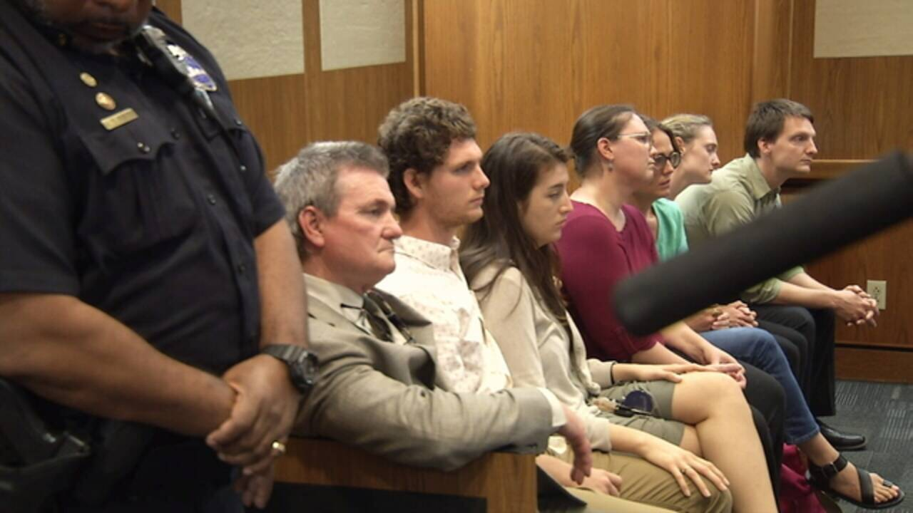 Liles family at court hearing