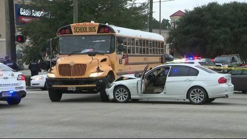 Driver shot before crashing into Spring ISD bus
