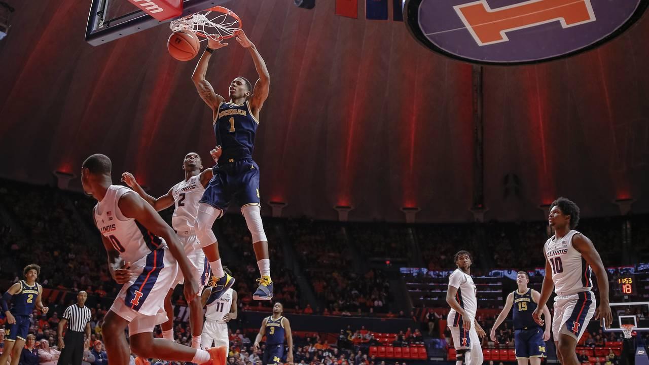 Charles Matthews Michigan basketball vs Illinois 2019