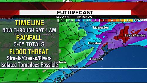 Flash Flood Warning issued for several Houston-area counties