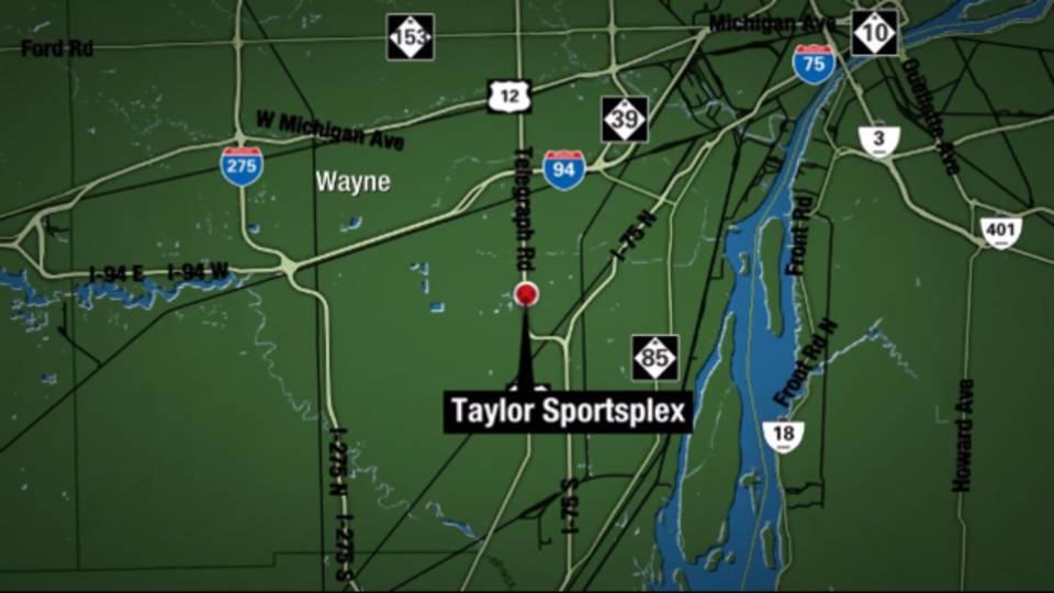 Taylor Sportsplex map