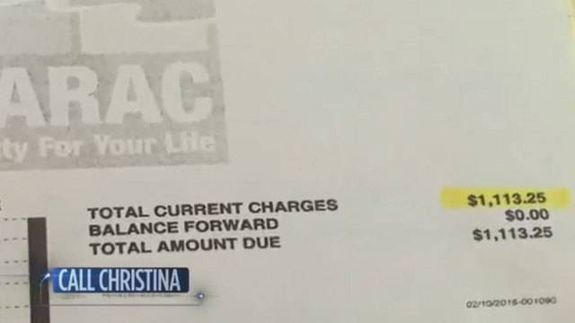 $1,113.25 water bill given to resident