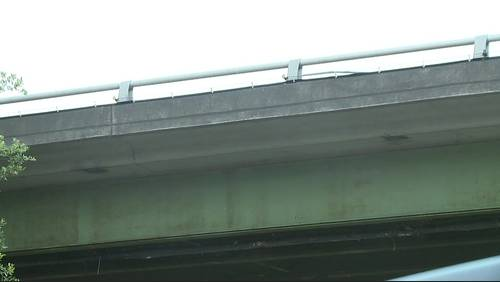 How do officials decide if a bridge or road in Houston needs repair?