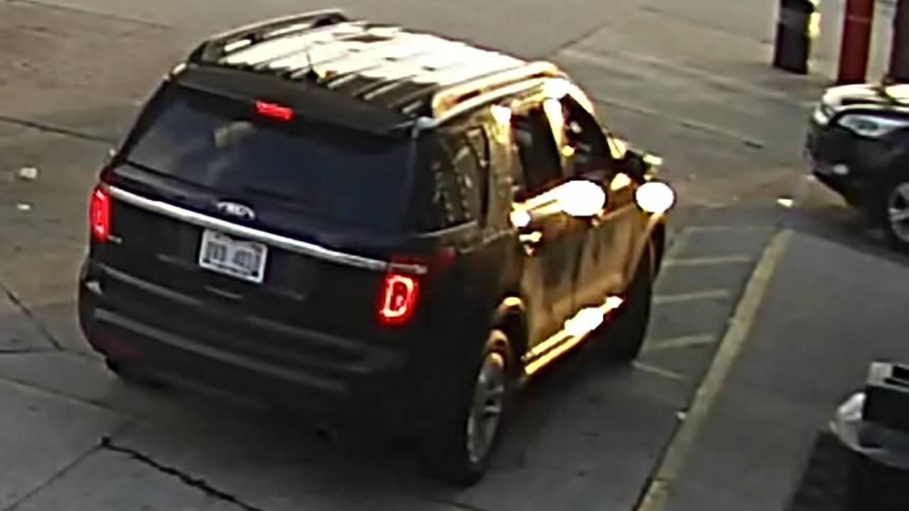 Gas station struggle shooting suspect vehicle