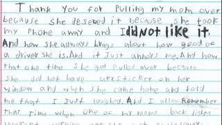 Police Receive Hilarious Letter From Boy, Thanking Cops for Pulling His Mom Over
