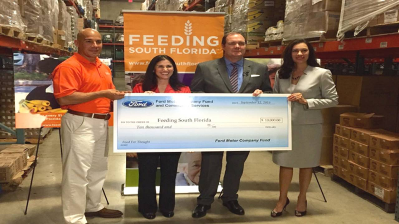 Feeding and Ford Check Presentation Food For Thought