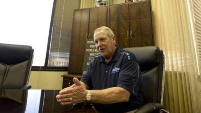 Tom Crowe, then-superintendent of Ector County Independent School District, in his office on April 12, 2018.
