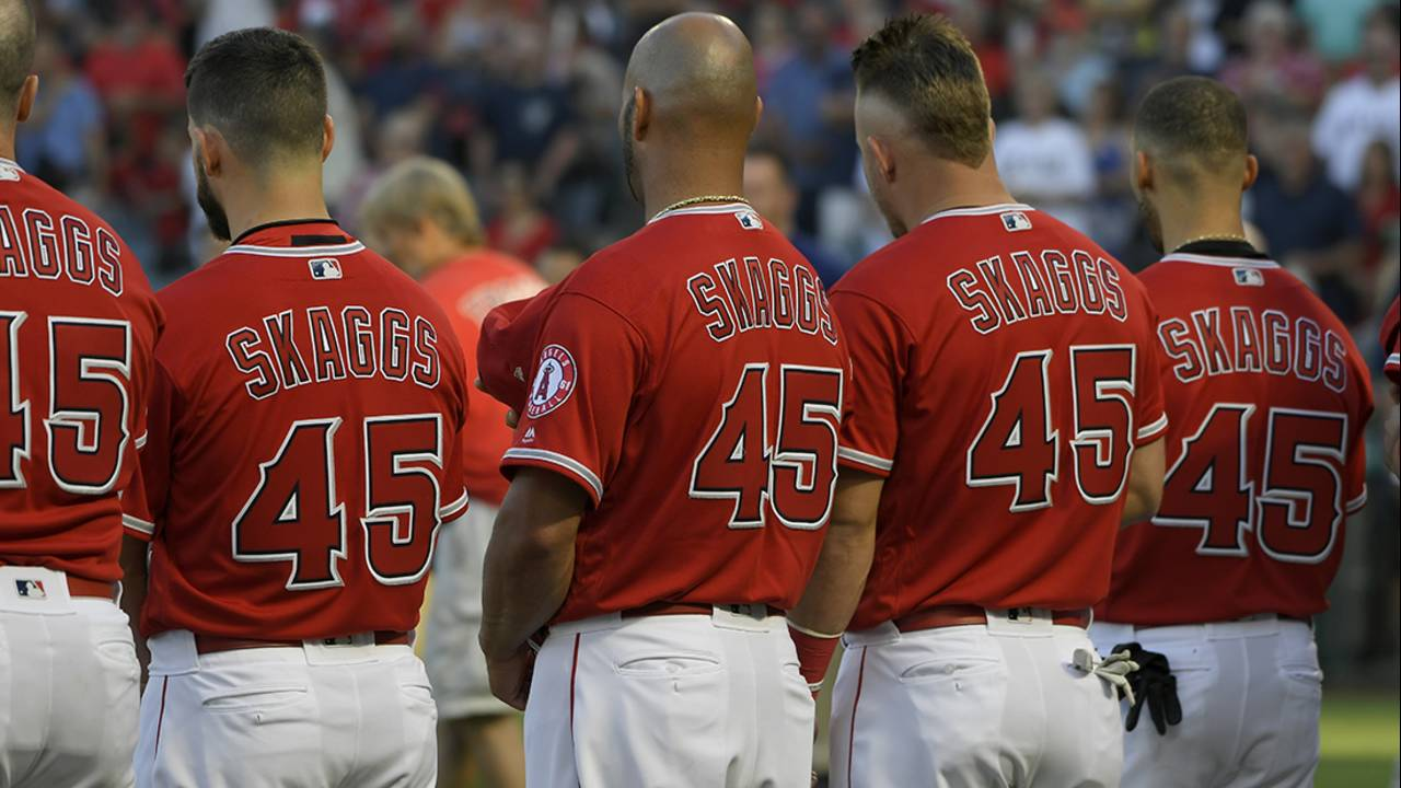 tyler skaggs jerseys on angels 7-12-19