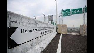 World's longest sea-crossing bridge opens