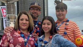 Winners of the Local 4 News Today Fireworks VIP passes: The Reyes Family