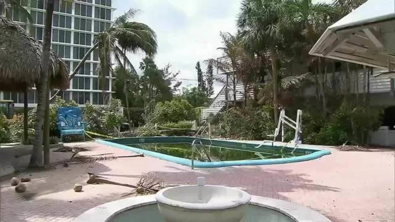 Bahia Cabana pool after Hurricane Irma