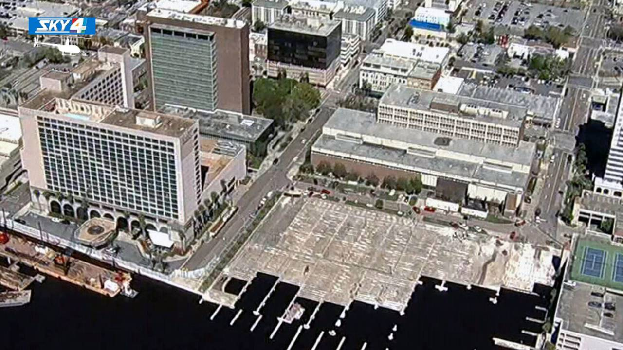 Old Jacksonville City Hall, Duval County Courthouse aerial