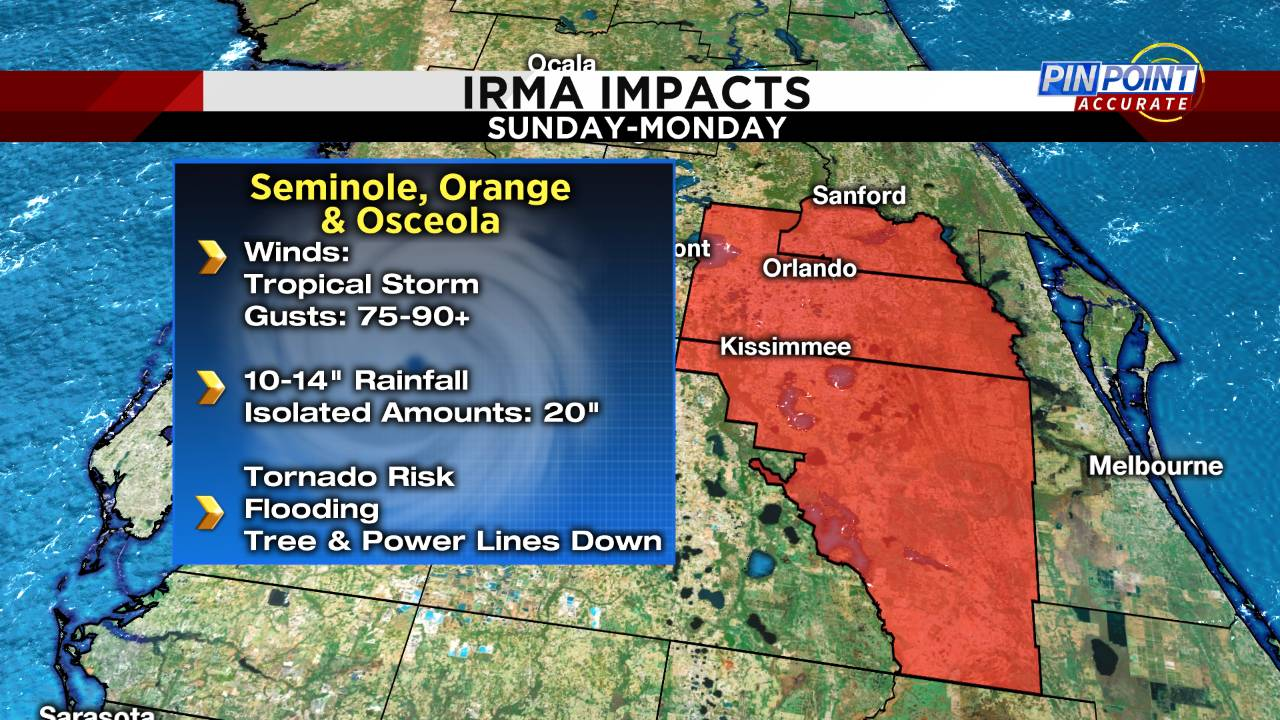 Irma impacts inland SUN am