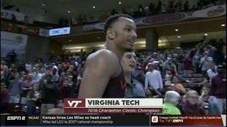 No. 16 Virginia Tech tops No. 23 Purdue to win in Charleston Classic