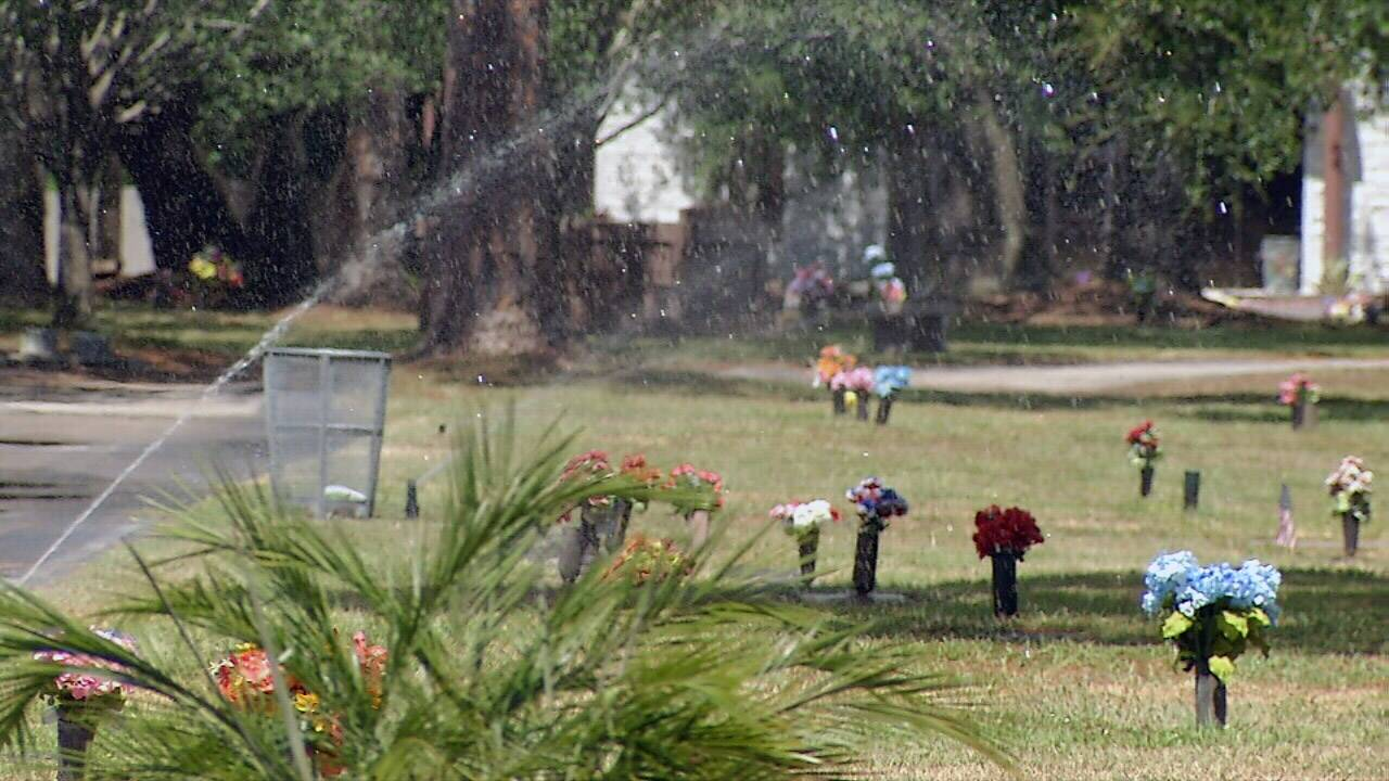 Atlantic Beach cemetery generic sprinkler