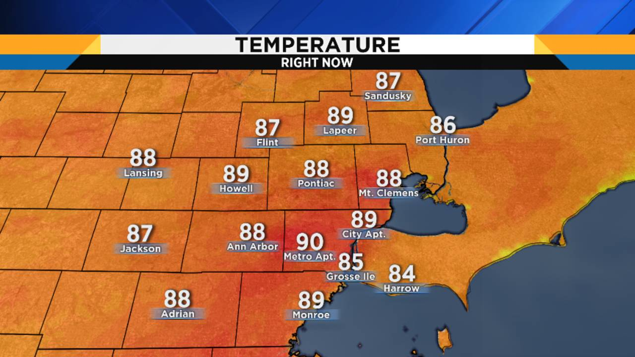 Airport Weather Map.Metro Detroit Weather Forecast So Much To Talk About Heat