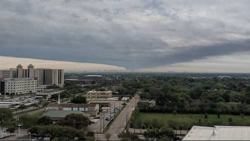 Air quality data from company released as fire continues to rage at Deer Park facility