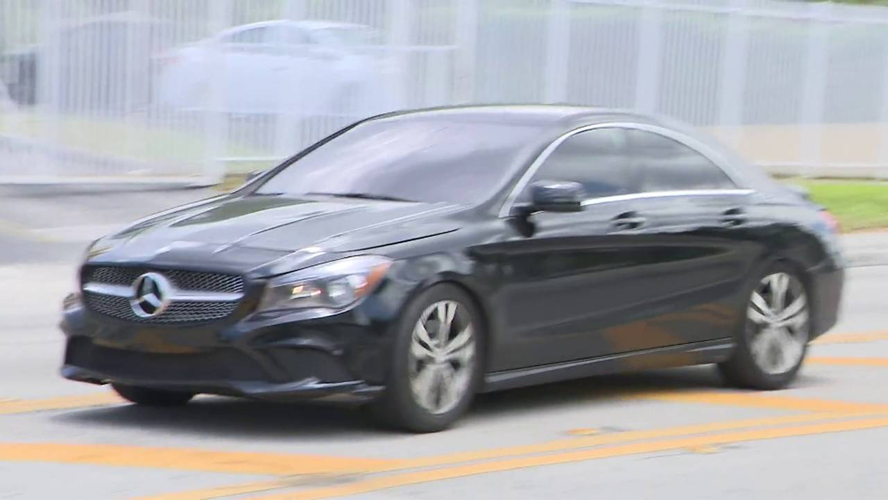 Cadence Bryant left in back of this black Mercedes-Benz