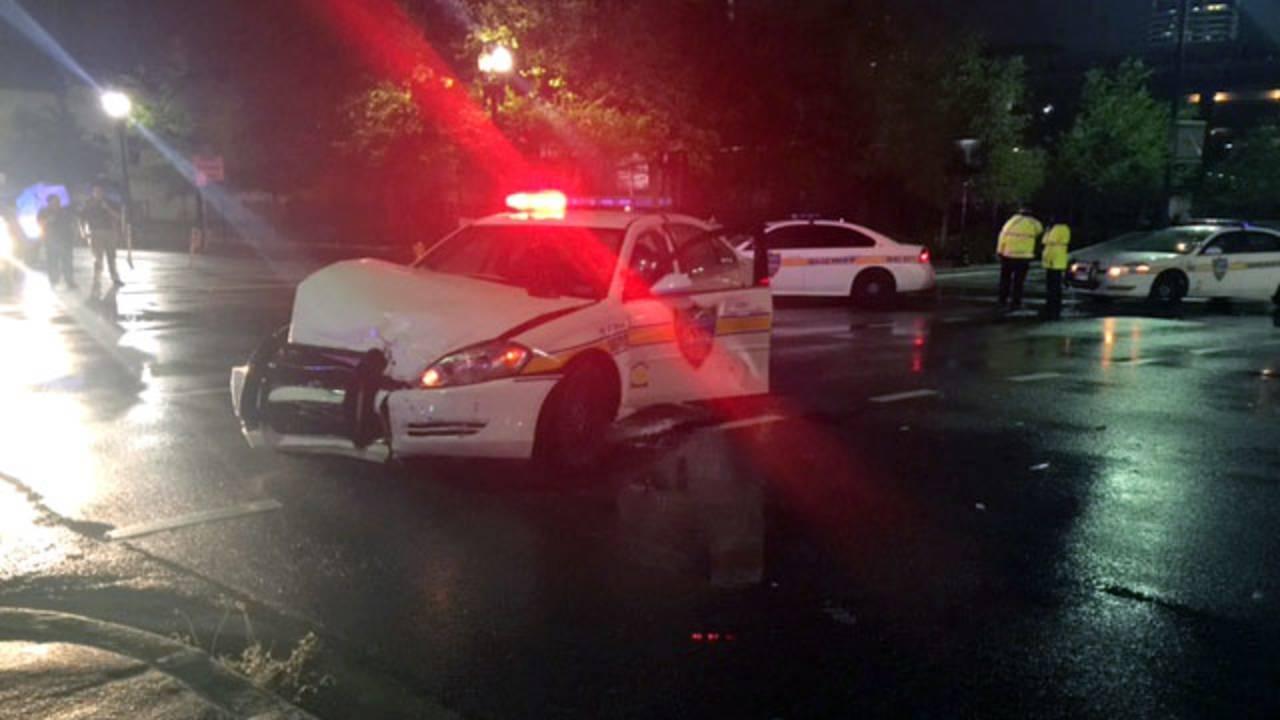 JSO officer crash downtown