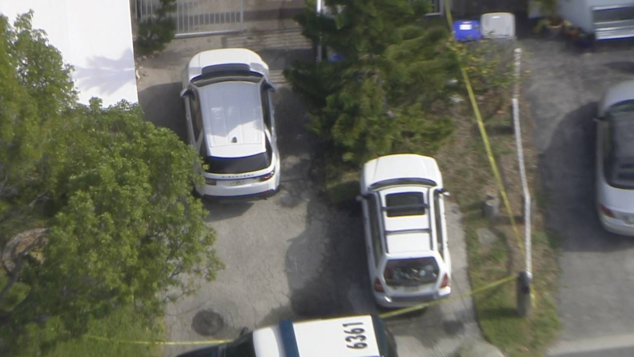 Sky 10 over police outside pompano beach home where girl found in pool