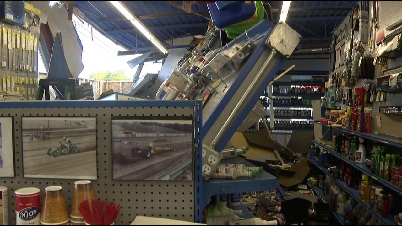 Richards Auto Parts damage more shelves