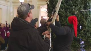 The Omni Homestead kicks off Christmas season with tree ceremony