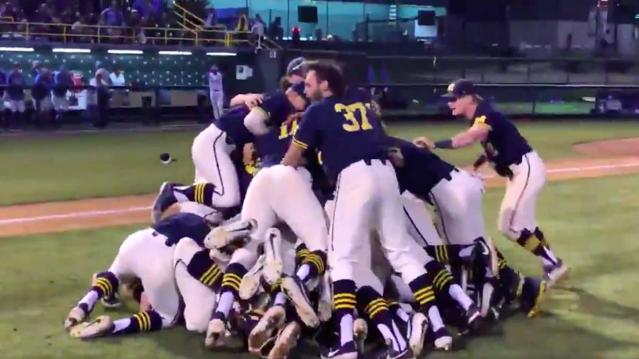 Michigan baseball vs UCLA 2019 to go to College World Series