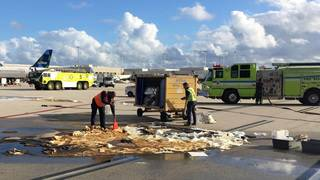 Hundreds of gallons of fuel spill at Fort Lauderdale airport