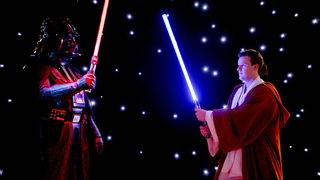 Nerd alert: Dueling with lightsabers from 'Star Wars' is officially a&hellip&#x3b;