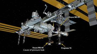 Astronauts patch small hole causing pressure leak on Russian section of&hellip&#x3b;