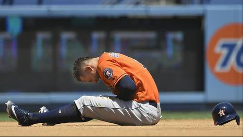 Astros OF George Springer heads to disabled list with sprained left thumb