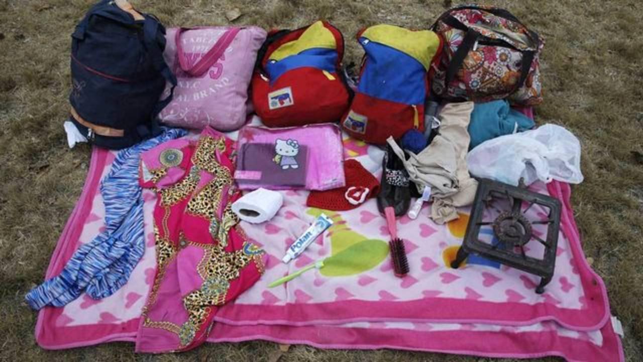 Venezuelan migrants belongings
