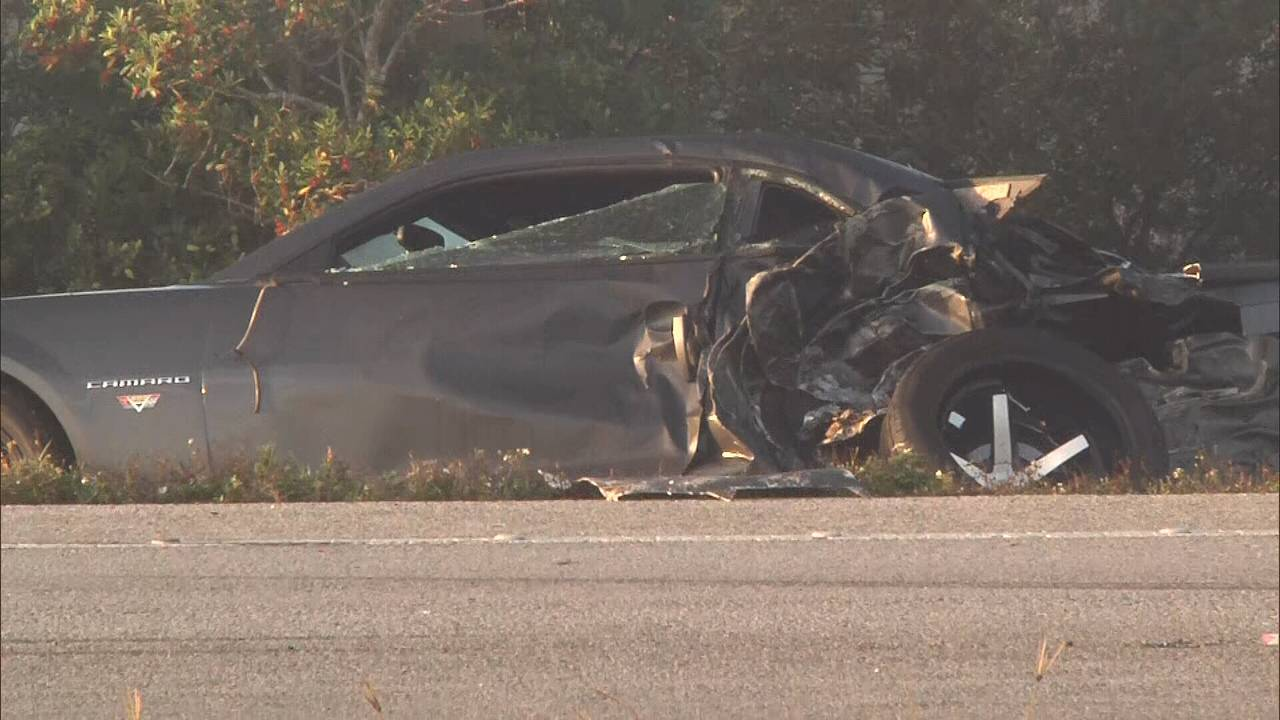 SR 520 crash Camaro