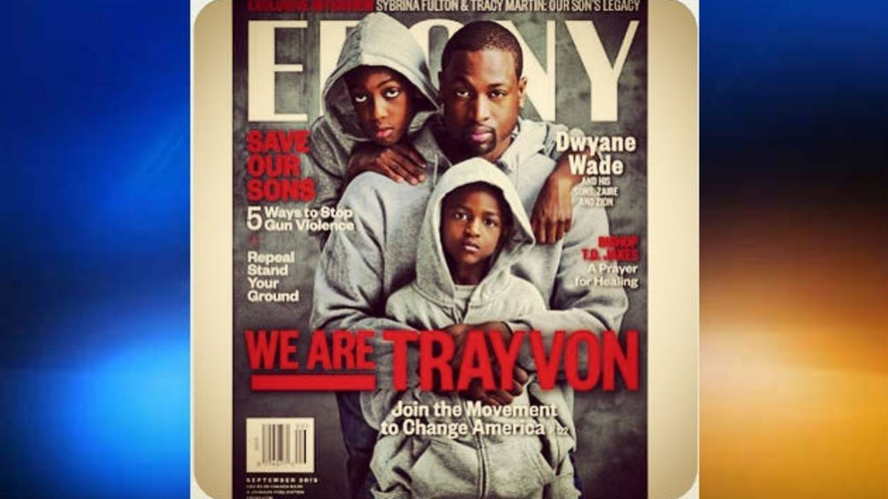 Ebony 'We are Trayvon' cover features Dwyane Wade