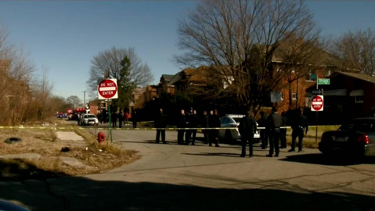 Detroit police officer suspect shot