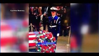 Jessie Farinholt speaks out about guarding President George H.W. Bush's casket