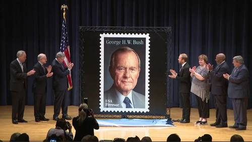 5 things to know about the new President George H.W. Bush stamp