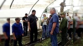 Cuban president visits Pinar del Rio after Hurricane Michael