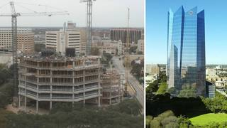 WATCH: Time-lapse videos show progress of construction of Frost Tower downtown