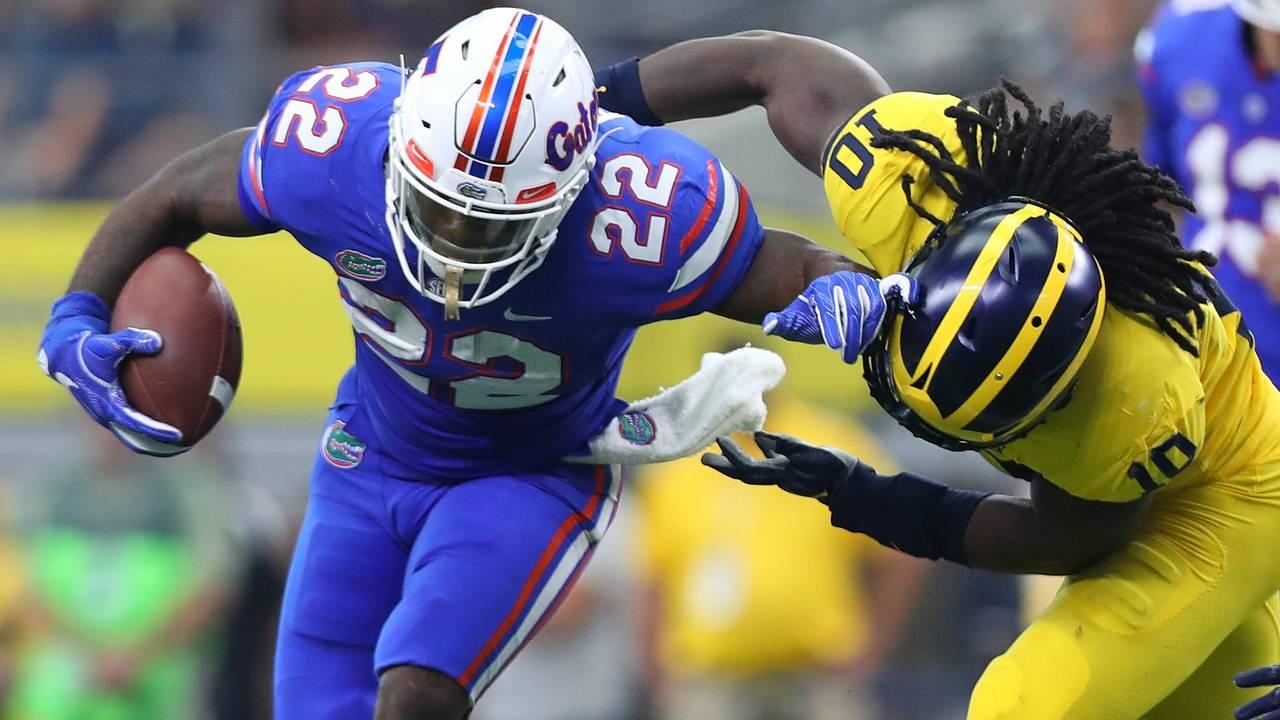 Devin Bush tackle Michigan football vs Florida 2017