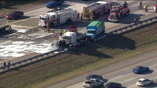 All lanes of I-275 at 7 Mile Road in Livonia open after crash