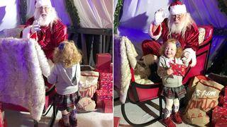 3-Year-Old With Cerebral Palsy Takes Her First Steps to Santa's Sleigh