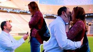 Man Pulls Off Surprise Proposal at Tennessee Football Stadium