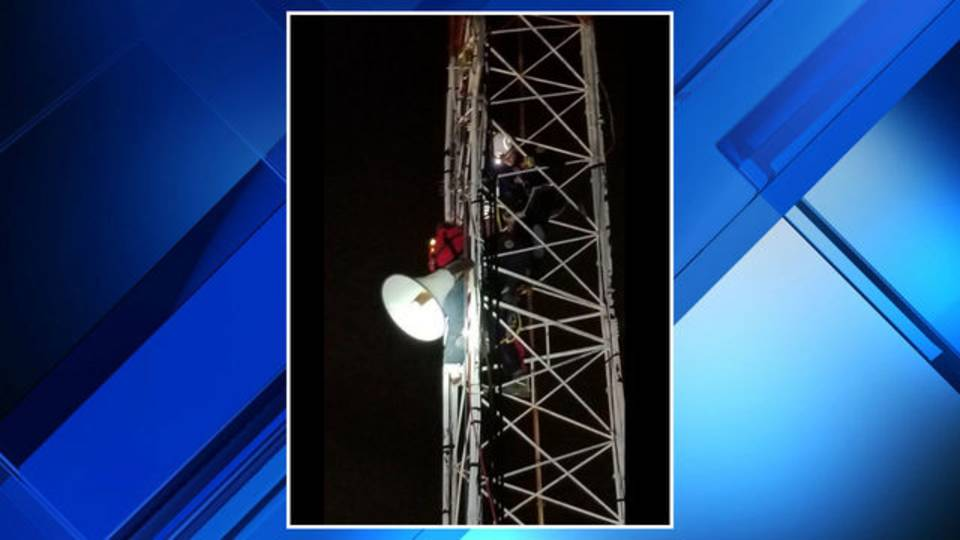 Independence Township suicide tower climb rescue 1