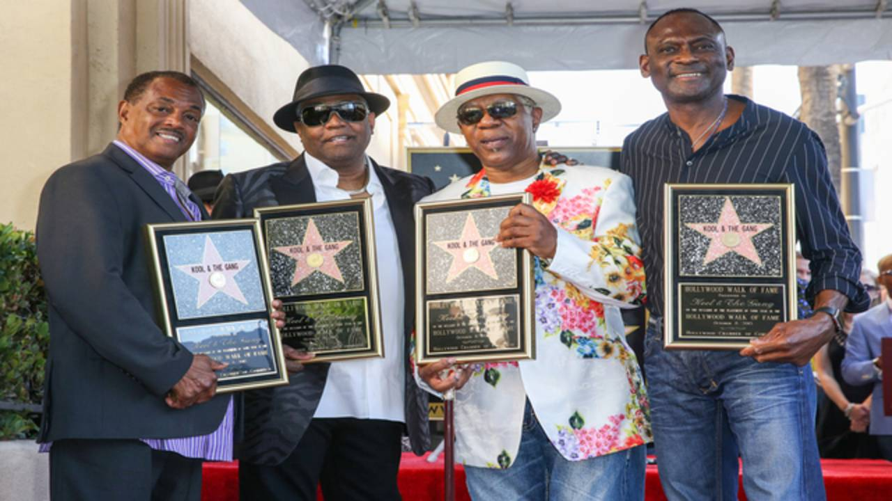 Ronald Bell and members of Kool & the Gang at Hollywood Walk of Fame in 2015