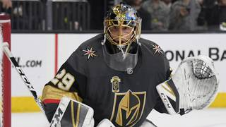 Vegas goalie tickles Jets player's ear