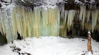 Winter in Michigan: Eben Ice Caves in Upper Peninsula