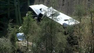 Driver killed, dozens injured in crash of Houston-area charter bus in Alabama