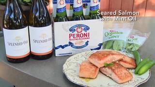 H-E-B Seared Salmon with Mint Oil